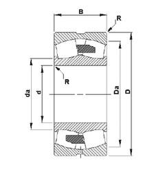 280 mm x 500 mm x 130 mm  Timken 22256YMB spherical roller bearings