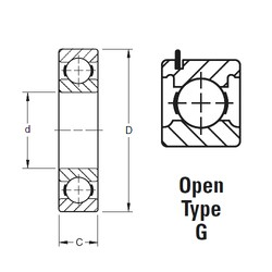 70 mm x 110 mm x 20 mm  Timken 9114KG deep groove ball bearings
