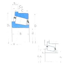 70 mm x 110 mm x 20 mm  Timken JP7049/JP7010B tapered roller bearings