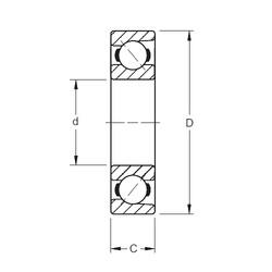 80 mm x 200 mm x 48 mm  Timken 7416WN angular contact ball bearings