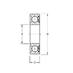 10 mm x 30 mm x 9 mm  Timken 200P deep groove ball bearings