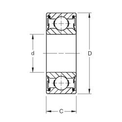 25 mm x 62 mm x 25,4 mm  Timken W305PP deep groove ball bearings