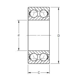 25 mm x 62 mm x 25,4 mm  Timken 5305K angular contact ball bearings