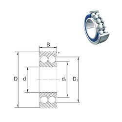 25 mm x 62 mm x 25,4 mm  ZEN S3305-2RS angular contact ball bearings