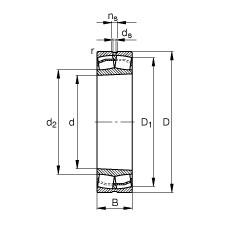 110 mm x 200 mm x 53 mm  FAG 22222-E1-K spherical roller bearings