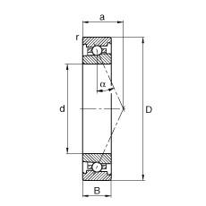 105 mm x 145 mm x 20 mm  FAG HS71921-E-T-P4S angular contact ball bearings