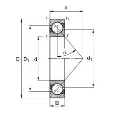 95 mm x 170 mm x 32 mm  FAG 7219-B-TVP angular contact ball bearings