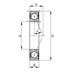 105 mm x 145 mm x 20 mm  FAG B71921-E-2RSD-T-P4S angular contact ball bearings