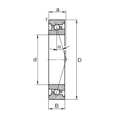 105 mm x 145 mm x 20 mm  FAG HS71921-C-T-P4S angular contact ball bearings