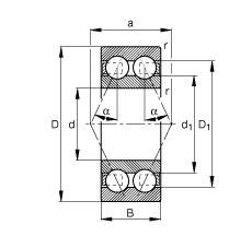 25 mm x 62 mm x 25,4 mm  FAG 3305-BD-TVH angular contact ball bearings