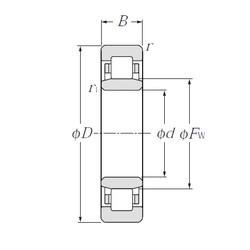 280 mm x 500 mm x 130 mm  NTN NU2256 cylindrical roller bearings