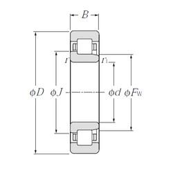 110 mm x 200 mm x 53 mm  CYSD NJ2222 cylindrical roller bearings