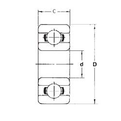 5 mm x 14 mm x 5 mm  FBJ 605 deep groove ball bearings