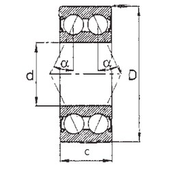 25 mm x 62 mm x 25,4 mm  FBJ 5305-2RS angular contact ball bearings
