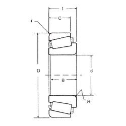 40 mm x 90 mm x 23 mm  FBJ 30308 tapered roller bearings