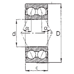 25 mm x 62 mm x 25,4 mm  FBJ 5305ZZ angular contact ball bearings