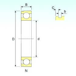 10 mm x 30 mm x 9 mm  ISB 6200 N deep groove ball bearings
