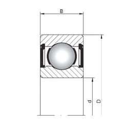 5 mm x 14 mm x 5 mm  Loyal 605 ZZ deep groove ball bearings
