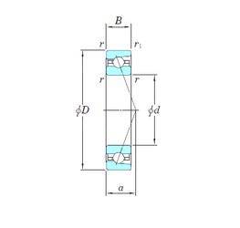 45 mm x 75 mm x 16 mm  KOYO 3NCHAR009C angular contact ball bearings