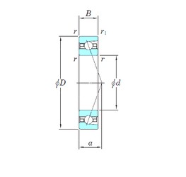 45 mm x 75 mm x 16 mm  KOYO HAR009CA angular contact ball bearings