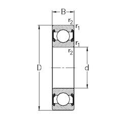 10 mm x 30 mm x 9 mm  NKE 6200-2RS2 deep groove ball bearings