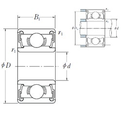 5 mm x 14 mm x 5 mm  NSK 605 DD deep groove ball bearings
