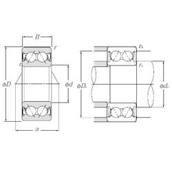 25 mm x 62 mm x 25,4 mm  NTN 5305SCLLD angular contact ball bearings