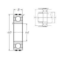 45 mm x 75 mm x 16 mm  NTN EC-6009 deep groove ball bearings