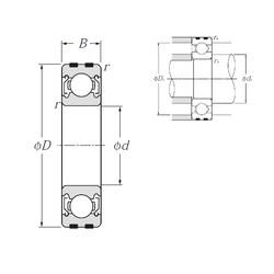10 mm x 30 mm x 9 mm  NTN EC-6200ZZ deep groove ball bearings