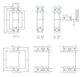 70 mm x 110 mm x 20 mm  SKF 7014 ACB/HCP4A angular contact ball bearings
