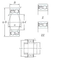 25 mm x 62 mm x 25.4 mm  KOYO 5305ZZ angular contact ball bearings