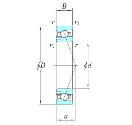 45 mm x 75 mm x 16 mm  KOYO 3NCHAD009CA angular contact ball bearings