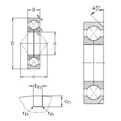 95 mm x 170 mm x 32 mm  NKE QJ219-N2-MPA angular contact ball bearings