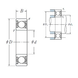 95 mm x 200 mm x 45 mm  NSK BL 319 ZZ deep groove ball bearings