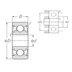 5 mm x 14 mm x 5 mm  NTN 605ZZ deep groove ball bearings