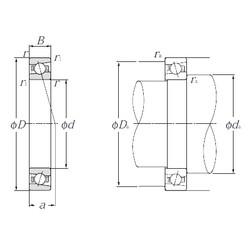 105 mm x 145 mm x 20 mm  NTN 5S-HSB921C angular contact ball bearings