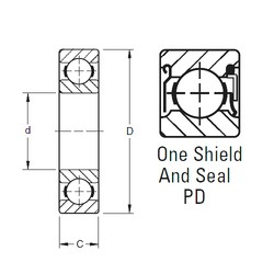 10 mm x 30 mm x 9 mm  Timken 200PD deep groove ball bearings