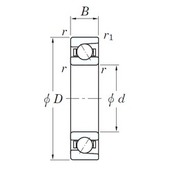 45 mm x 75 mm x 16 mm  KOYO 3NC 7009 FT angular contact ball bearings