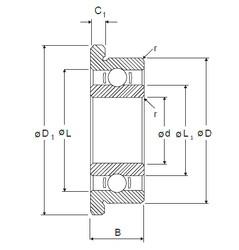 5 mm x 14 mm x 5 mm  NMB RF-1450 deep groove ball bearings