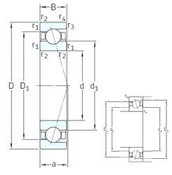 110 mm x 140 mm x 16 mm  SNFA SEA110 7CE3 angular contact ball bearings
