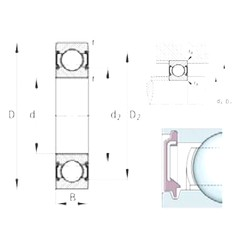 10 mm x 30 mm x 9 mm  FAG 6200-C-2BRS deep groove ball bearings