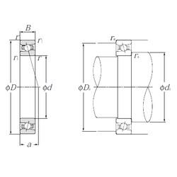 70 mm x 110 mm x 20 mm  NTN HSB014C angular contact ball bearings