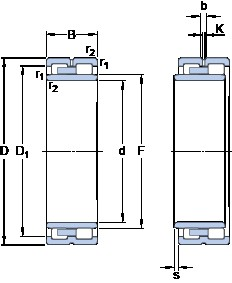280 mm x 380 mm x 100 mm  SKF NNU 4956 B/SPW33 cylindrical roller bearings