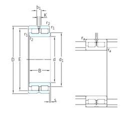 280 mm x 380 mm x 100 mm  SKF NNCL4956CV cylindrical roller bearings