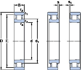45 mm x 75 mm x 16 mm  SKF N 1009 KTNHA/SP cylindrical roller bearings