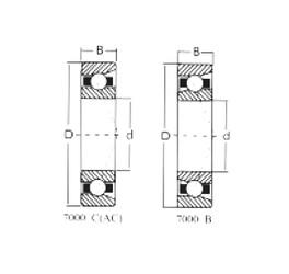 70 mm x 110 mm x 20 mm  Loyal 7014C angular contact ball bearings