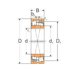 110 mm x 200 mm x 53 mm  Loyal 22222 W33 spherical roller bearings