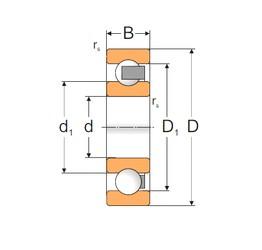105 mm x 145 mm x 20 mm  Loyal 61921P deep groove ball bearings