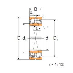 110 mm x 200 mm x 53 mm  Loyal 22222 KW33 spherical roller bearings