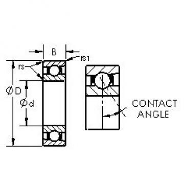 AST 7014AC angular contact ball bearings